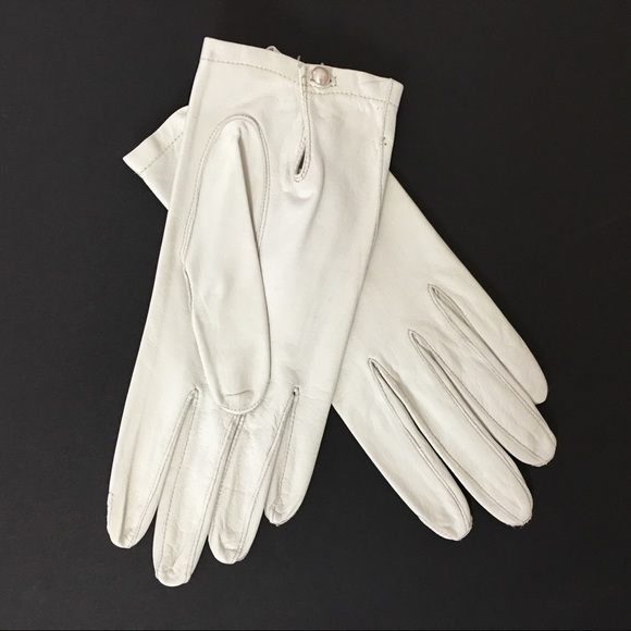 96e7aa32b Boyce Lazarus Accessories | Vintage Soft Kid Leather Cream Glove ...
